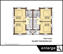 Aamar bari layout and plan Twin bungalow plans